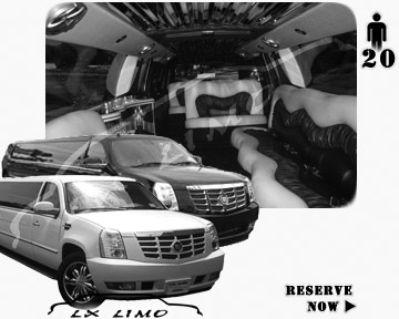 Cadillac Escalade 20 passenger SUV Limousine for rental in Minneapolis, MN