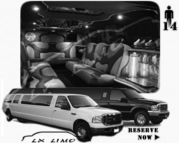 Lincoln Excursion SUV Limo for hire in Minneapolis, MN